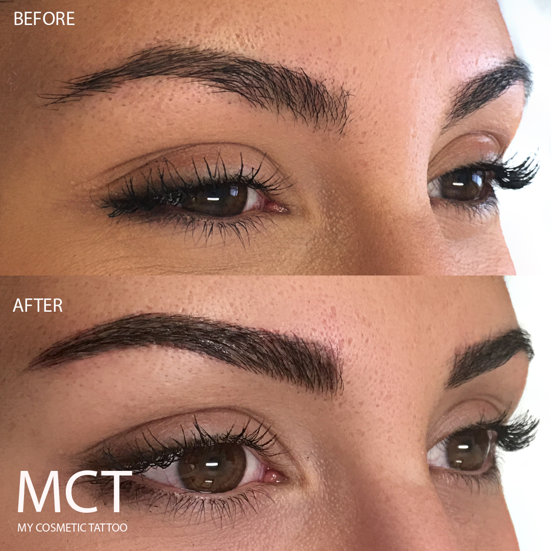 Eyebrow tattoo feathering my cosmetic tattoo for Eyebrow tattoo images